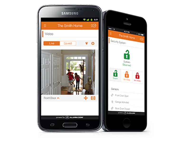 alarm.com application pour securite maison