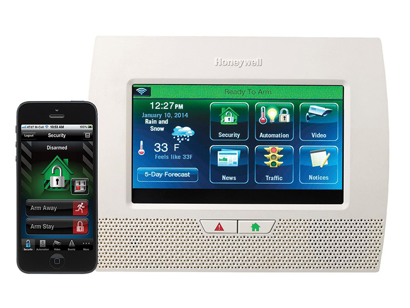 systeme securite lynx touch honeywell application iphone