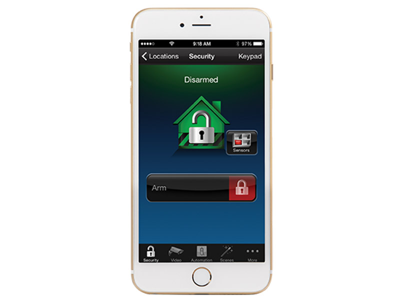 systeme securite lync touch application iphone