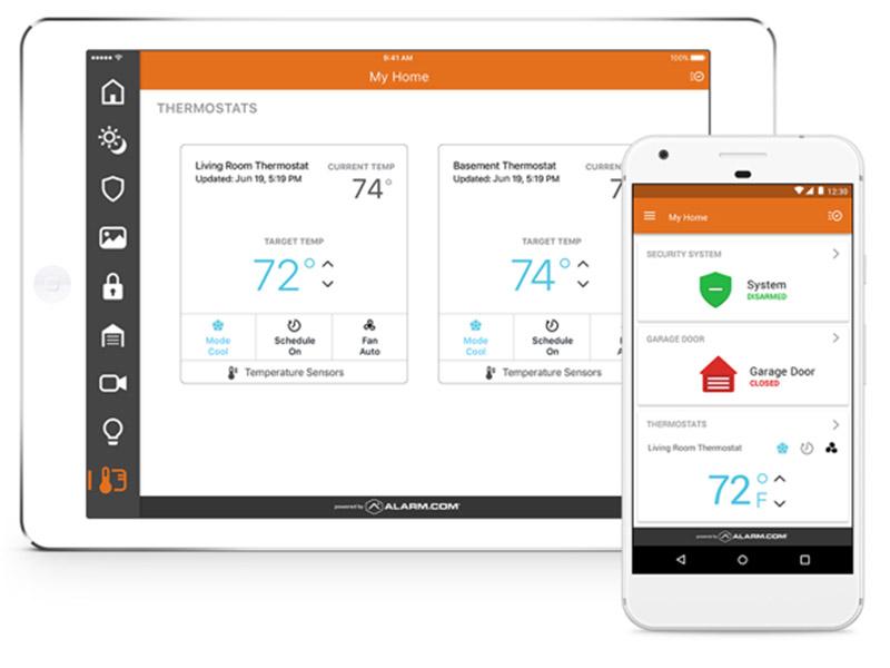 systeme securite camera alarm.com application